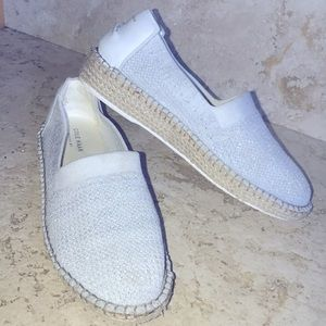 Cole Haan Cloudfeel Knit Pinch Maine Classic Silver & Light Gray Espadrilles